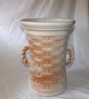 Mázas kerámia  váza ,esernyőtartó nagy méret