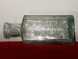 Antik német üvegpalak C.MMÜLLER&CO BERLIN.