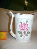 Rózsás porcelán ivó csanak, pohár, csésze