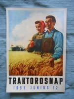 Traktorosnap 1955 plakát
