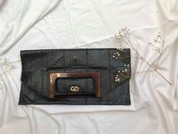 Különleges kígyóbőr vintage táska