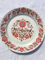 Alföldi fali népi mintás porcelán falitányér - tányér