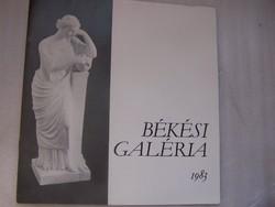 Békési Galéria katalógus – 1983
