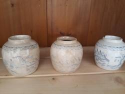 19.Sz Antik Kínai Gyömbér/Teafűtartók