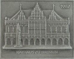 0S916 Brémai tanácsháza fém fali plakett 1987