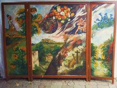 Gyönyörű nagy  festmény-paraván 220x160cm