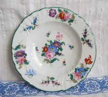 Antik Minton Rouen Briggs Co. Boston kézzel festett tányér