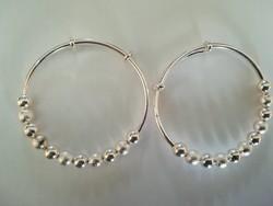 1 pár női ezüst karperec