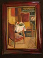 Miháltz Pál (1899-1988): Szobabelső, (keret nélkül.)