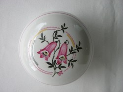 Zsolnay porcelán harangvirágos bonbonier