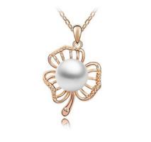 Aranyozott tekla gyöngy nyaklánc ABL-TE04