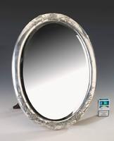 Szecessziós ezüst asztali tükör