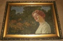 Margitay Tihamér (1859-1922) - Hölgy szabadban