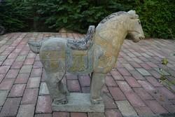 Nagyméretű keleti ( kínai ) kő ló!