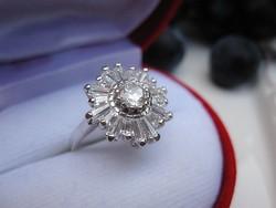 Hópehely ezüst gyűrű - 925-ös sterling ezüst