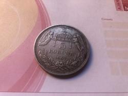 1907 ezüst magyar 5 korona KB ritka