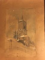 Antik akvarellek 1800 ás évek
