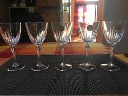 Cristal D Arques Francia kristály csiszolt boros pohár