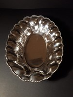 Ezüst asztalközép, gyömölcsös kínáló, szép, megkímélt állapot!