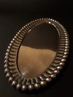 Gyönyörű ezüst tálca / asztalközép / kínáló 350x18mm
