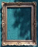 Gyönyörű mintájú, széles antik keret, festménykeret !