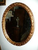 Nagyon szép, babér leveles antik ovális tükör 75*61 cm méretben