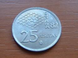 SPANYOL 25 PESETA 1980 (81) FOCI VB '82 S+V
