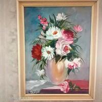 Papp Tünde: Rózsácskák c. festménye