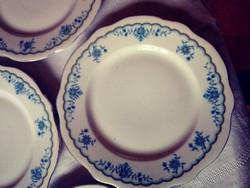 5 db antik Zsolnay porcelán süteményes tányér