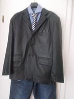 Luxus Burton vajpuha kesztyűbőr juh nappa bőr zakó bőrkabát  úrnak  105 mell 102 derék