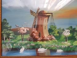Antik ,Miklós Lajos festmény