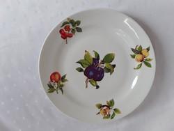 Zsolnay gyümölcsmintás tányér   /  1950