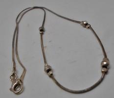 Különleges régi gömbdíszes ezüstnyakék