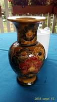 Gyönyörű, fényes mázú kerámia váza, 20 cm magas