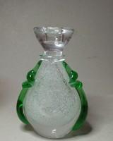 Cseh üveg gyertyatartó