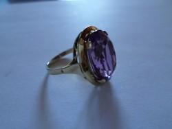Art deco ametiszt köves arany gyűrű