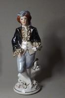 Barokk férfi porcelán