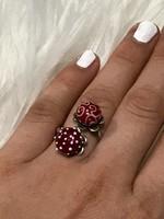 Mesés ezüst gyűrű Millefiori  16mm átmero