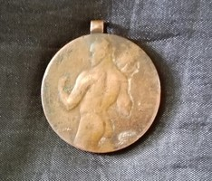 Berán Lajos bronz sportolói emlékmedál