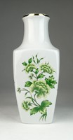 0S985 Virágmintás Hollóházi porcelán váza 24 cm