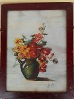 Böske 106 éves virágcsendélete