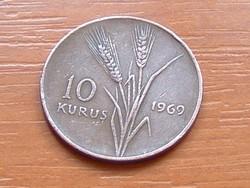 TÖRÖK 10 KURUS 1969   S+V