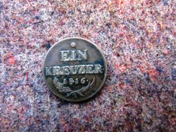 Bronz 1 Krajcár 1816 A, I.Frenc
