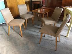 Régi retro kárpitozott szék étkezőszék 70-es évek