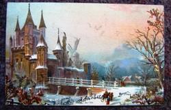 Régi képeslap 1903 hosszú címzett.