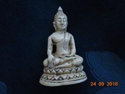 Mini Buddha lótuszülésben szobrocska-6,7 cm