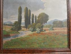 Szentmiklóssy M. Sándor festmény