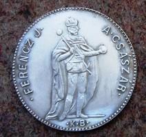 Ferencz József 4 dukát ezüstérem 2009 bajai éremgyűjtők kiadása, 40mm, 999finomság