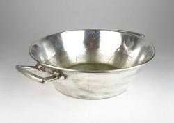 0T056 Antik éttermi ezüstözött alpakka tál 37 cm