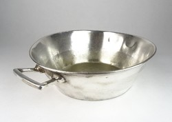 0T055 Antik éttermi ezüstözött alpakka tál 37 cm